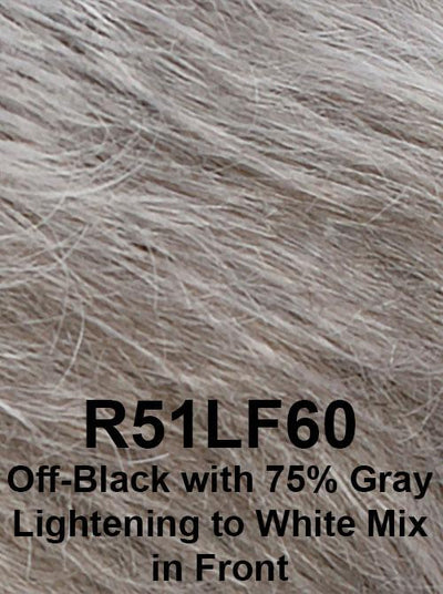 R51LF60 | Off-Black with 75% Gray Lightening to White Mix in Front