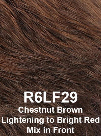 R6LF29 | Chestnut Brown Lightening to Bright Red Mix in Front