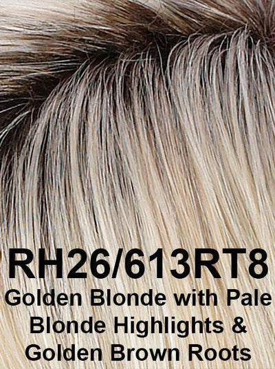 RH26/613RT8 | Golden Blonde with Pale Blonde Highlights & Golden Brown Roots
