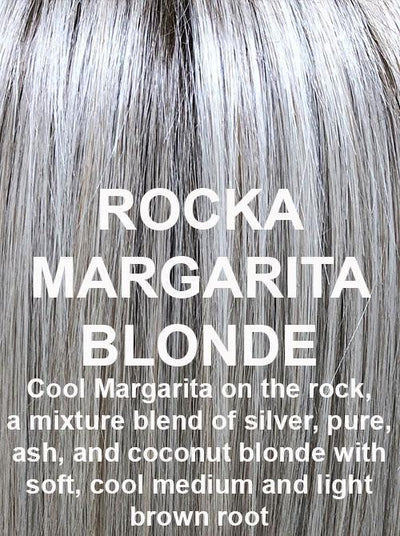 ROCA MARGARITA BLONDE | Cool Margarita on the rock, a mixture blend of silver, pure, ash, and coconut blonde with soft, cool medium and light brown root