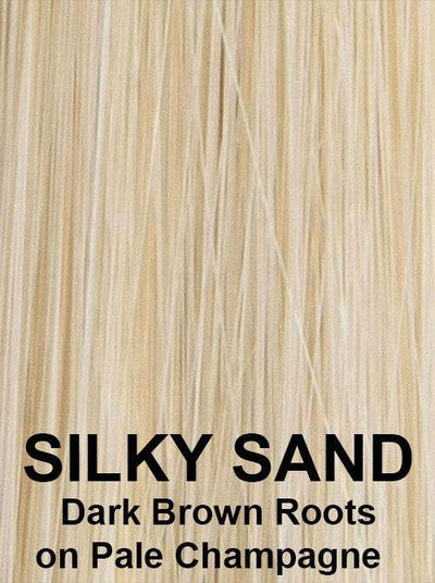 SILKY SAND | Dark Brown Roots on Pale Champagne
