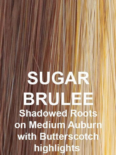 SUGAR BRULEE | Shadowed Roots on Medium Auburn with Butterscotch highlights