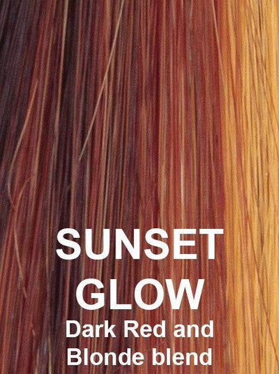 SUNSET GLOW | Dark Red and Blonde blend