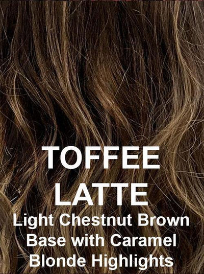 TOFFEE LATTE | Light Chestnut Brown Base with Caramel Blonde Highlights