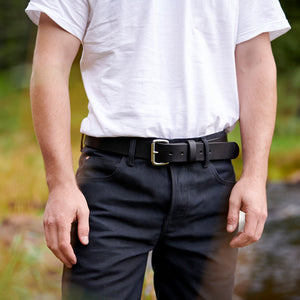 Black Brass Harness Belt