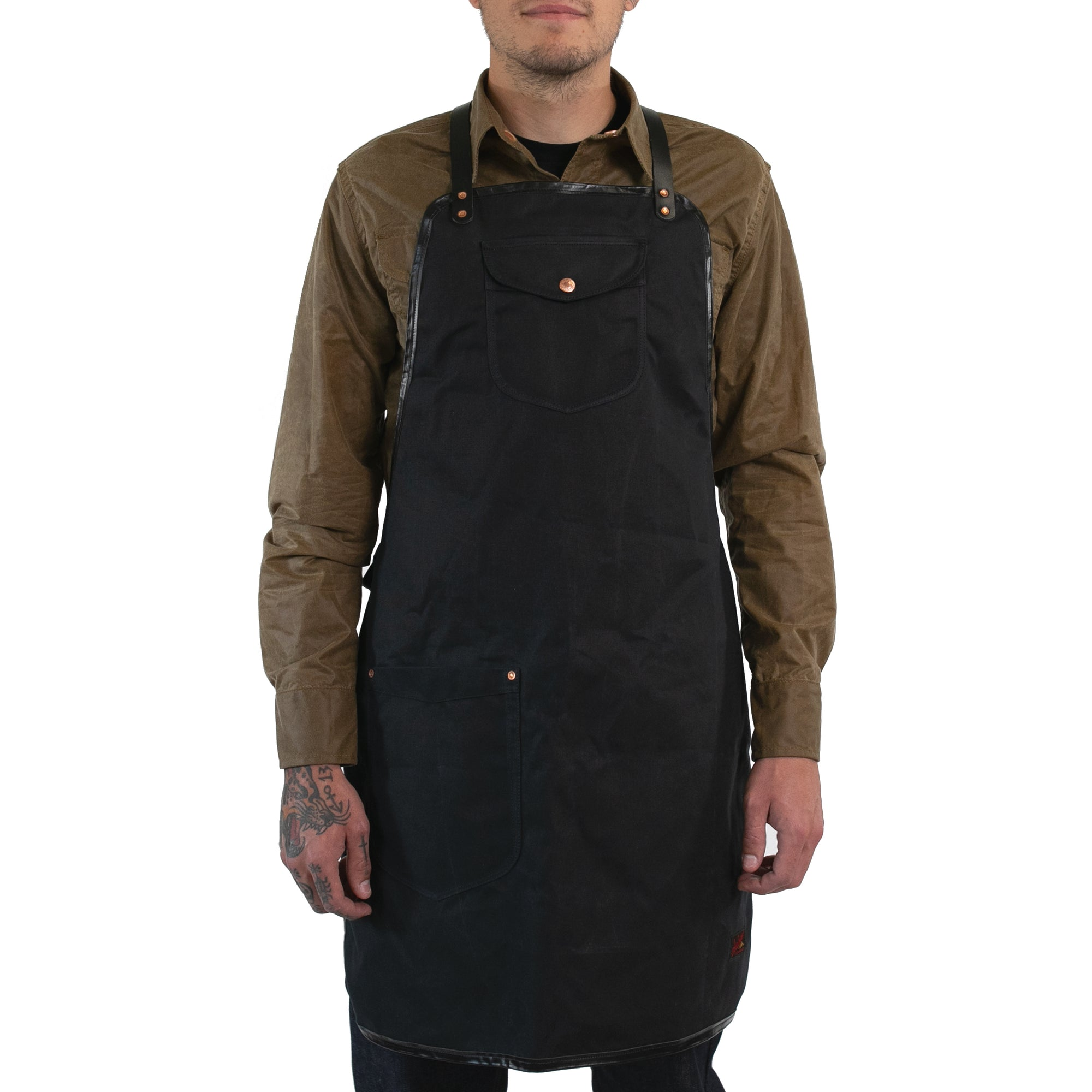 Black Waxed Craftsman's Apron