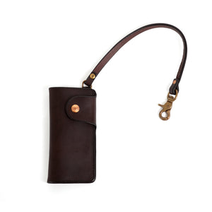 Brown Brass Trucker Wallet