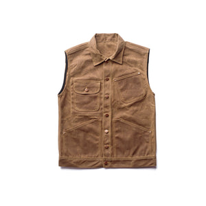 Brown Waxed Canvas Vest