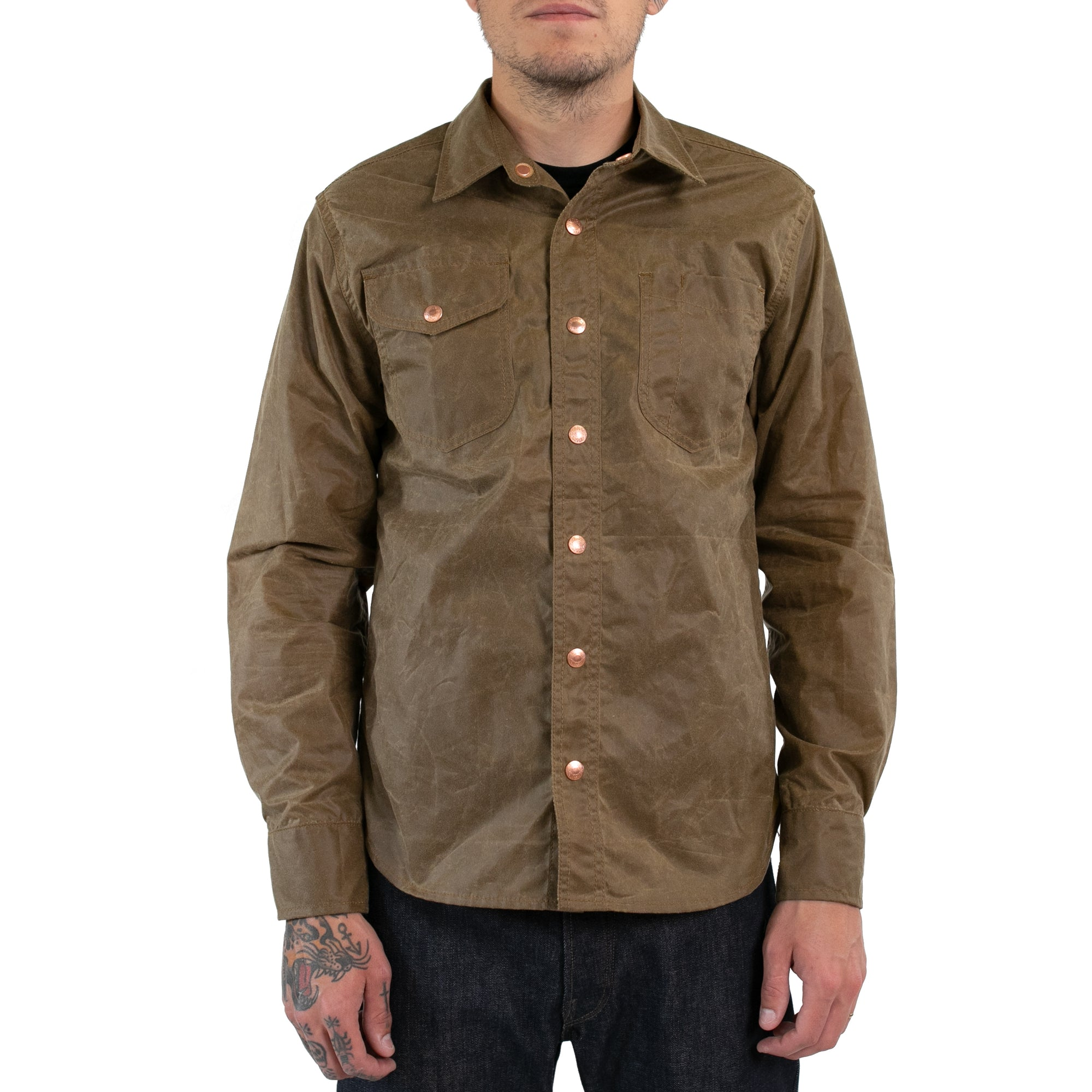 Field Tan Waxed Work Shirt