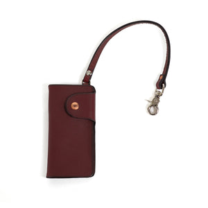 Oxblood Steel Trucker Wallet