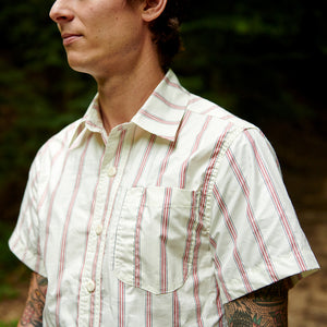 Striped Poplin Short Sleeve