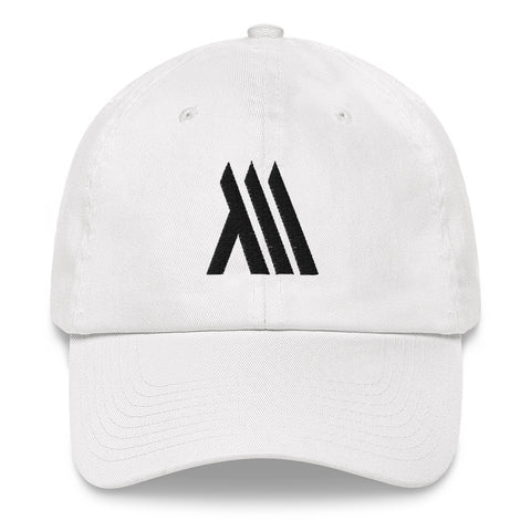White Monumental Dad Hat (Black Logo)