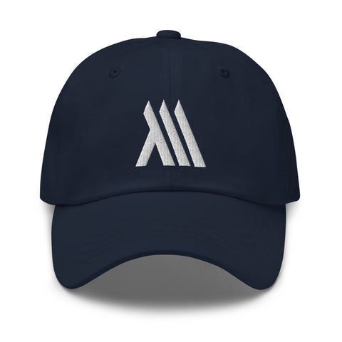 Navy Monumental Dad Hat (White Logo)