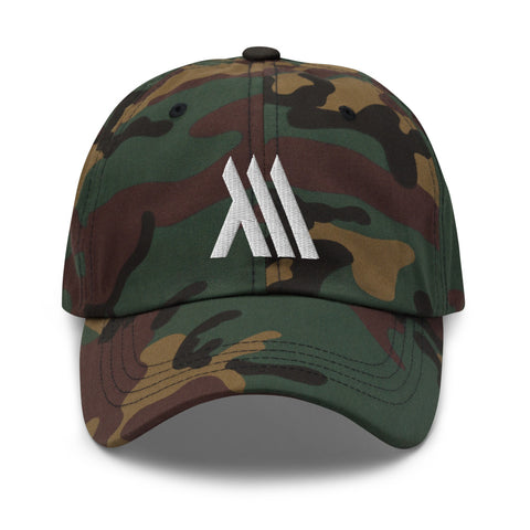 Monumental Camo Dad Hat (White Logo)