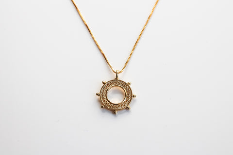 Nautical Wheel Necklace, Medium