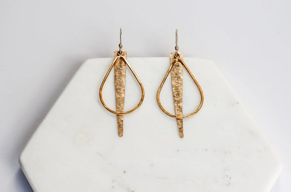 Drop Pendant Spike Earrings
