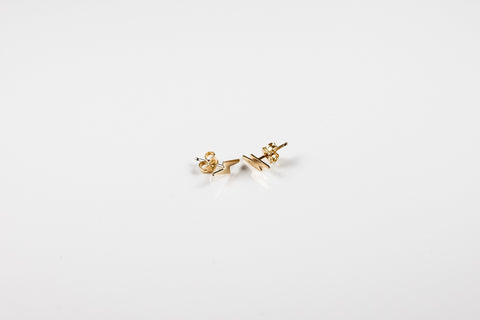 Tiny Lightning Bolt Stud Earrings