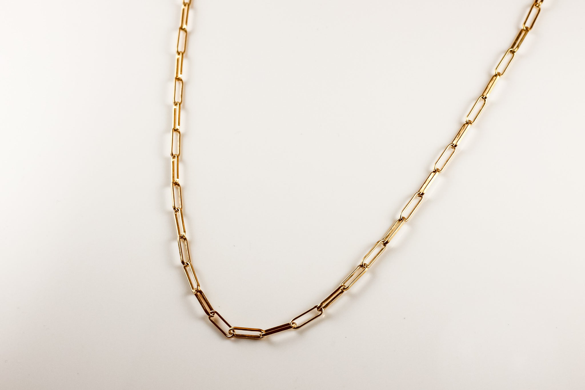Box Paperclip Chain Necklace