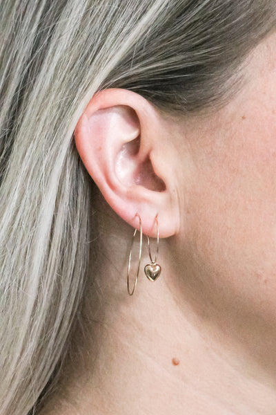 Delicate Wire Hoop Earrings