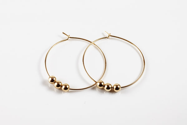 Delicate Beaded Hoop Earrings