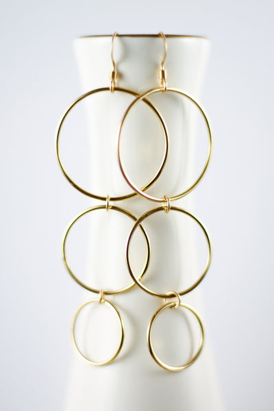 Cascading Circle Earrings