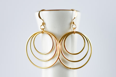 Stacked Circle Earrings