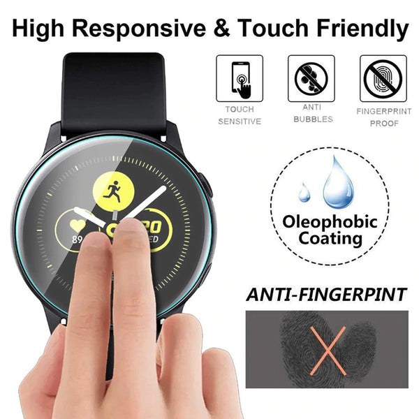 1/2 PACK Tempered Glass Screen Protector for Samsung Galaxy Watch Active High Quality 0.3mm Transparent Screen Protector