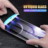 UV Tempered Glass For Huawei P30 P30pro P30 Lite 5D Full Liquid Glue Screen Protector