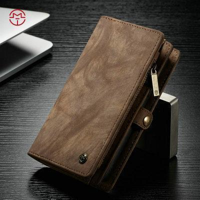 CaseMe For iPhone Wallet Case Premium Zipper Leather Purse with Detachable Flip Magnetic Cover 10Credit Card Slots