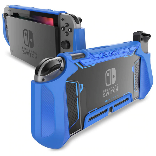 For Nintendo Switch Case Blade TPU Grip Protective Cover Dockable Case Compatible with Console & Joy-Con Controller