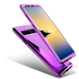 360 Degree Full Body Case Soft HD Screen Protector Ultralight Slim Hard Mirror Chrome Electroplate Cover for Samsung GalaxyS20/10/9/8/ Note10/9/8