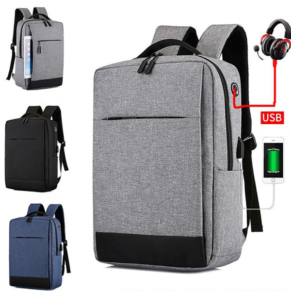 Oxford Cloth Multipurpose Laptop Bag Backpack Large Capacity Casual USB Port Business