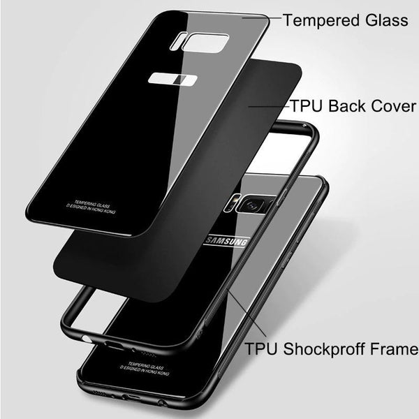 Ultra Thin Metal Frame Glass Case For Samsung Galaxy Note 8 / Note 9 / S8 / S8 Plus /S9 /S9 Plus