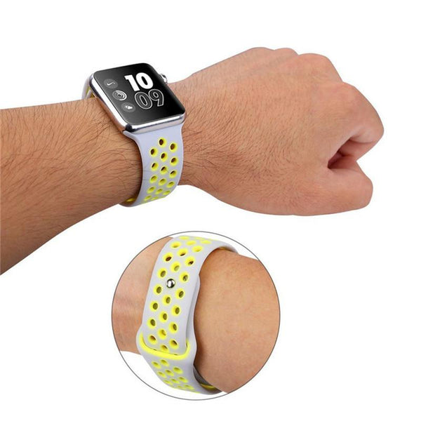 Replacement Sport Silicone Strap Wristband Strap for Apple Watch 4 44 / 40mm Compatible for iWatch Series 3/2/1/42 / 38mm Band