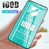 100D Curved Edge Full Tempered Glass for iPhone 6 7 8 6S Plus Screen Protective Film for iPhone X XR XS Max Glass Film