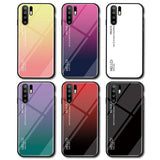For Huawei P30/P30 Lite/30 Pro Case Luxury Hard Tempered Glass Gradient Protective Back Cover case