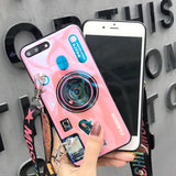 Camera Phone Case For Samsung Galaxy s7 s8 s9 s10 plus Note 8 9 With Drawstring And Bracket