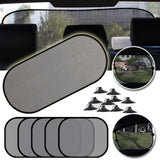 5 pcs 3D photocatalist mesh sun visor for window sun visor with suction cup front back rear curtain for car sunshade