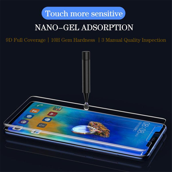Nano Liquid UV Vision Protection Full Glue Tempered Glass for Huawei Mate 20 Pro