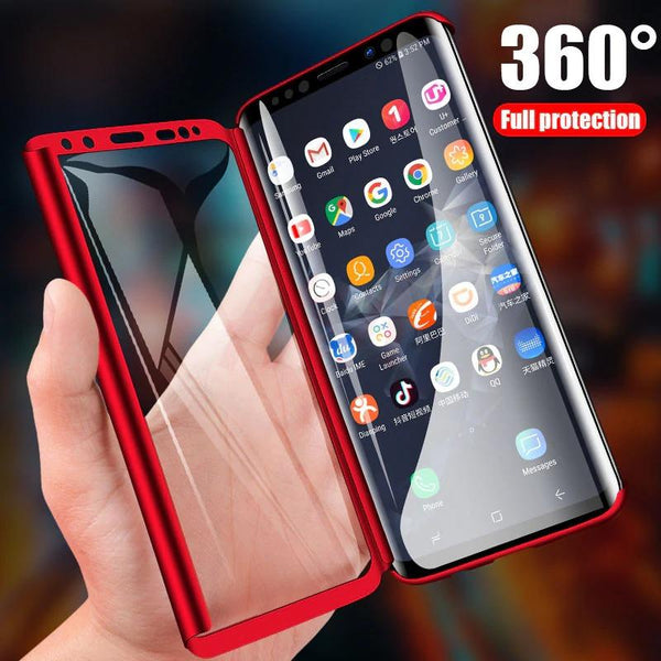 Luxury 360 Phone Case Cover For Samsung Galaxy S10 S9 S8 plus S7 edge Note 9 8 Shockproof Proof Cover
