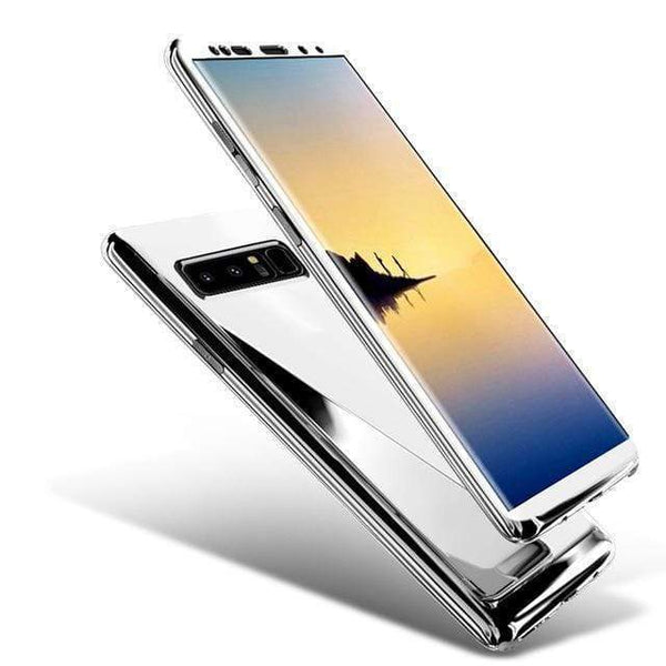 360 Degree Full Body Case Soft HD Screen Protection Protector Film Ultralight Slim Hard Mirror Chrome Electroplate Cover for Samsung S8/S8Plus/S9/S9Plus