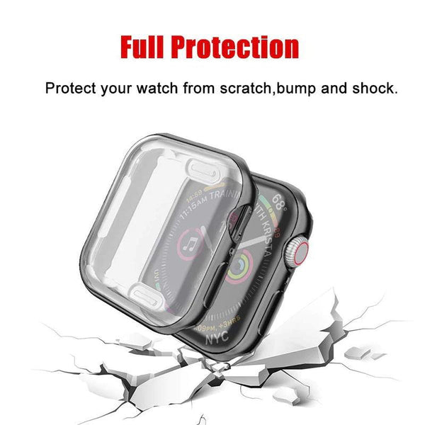 Screen Protector for Apple Watch 3/2/1 38MM 42MM Soft TPU All Around Transparent Ultra Thin HD Cover for iWatch 4 44MM 40MM