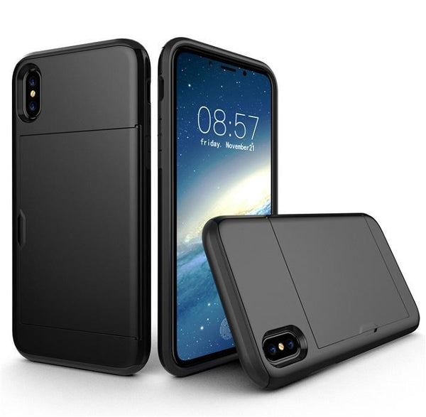 SGP Spigen Slim Armor CS TPU PC Cell Phone Cases with Card Slot for iPhone X XS Max XR 8 7 6 6S Plus