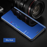 Smart Mirror Flip Phone Case For Huawei Honor 8X P30 P20 Lite Mate 20 10 Pro Note 10 P Smart  View Cover