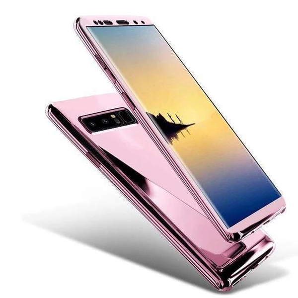360 Degree Full Body Case Soft HD Screen Protector Ultralight Slim Hard Mirror Chrome Electroplate Cover for Samsung Galaxy
