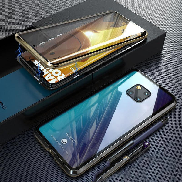 Luxury Magnetic Cases Phone 360 Metel Full Body Protective Double Sided Tempered Touch Glass For Huawei Mate20 Mate20Pro