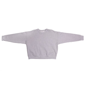 Lagree Gray Cropped Crewneck