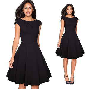 Casual Fitted Skater Dress