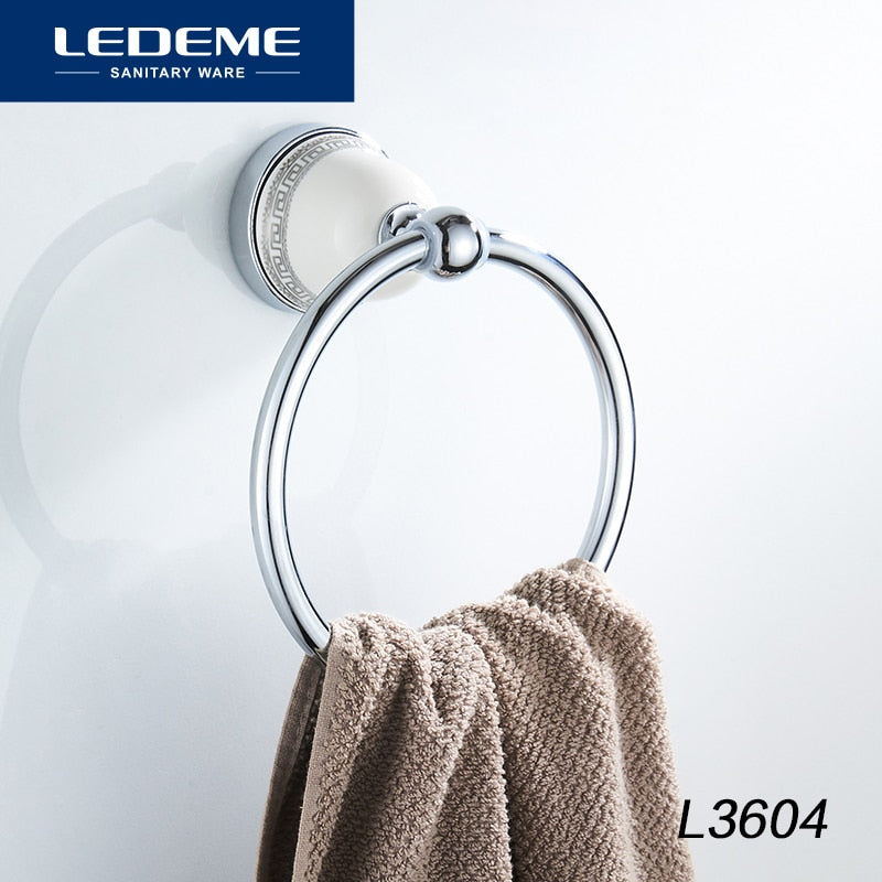 Round Style Wall-Mounted Towel Ring Holder