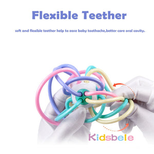 Rattle Teether Grip Baby Toys